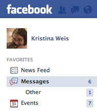 "Where you can find your ""Other"" Facebook messages"