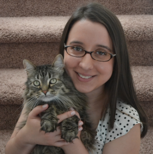 Kristina and her cat Thumper